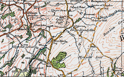 Old map of Afon Llwchwr in 1923