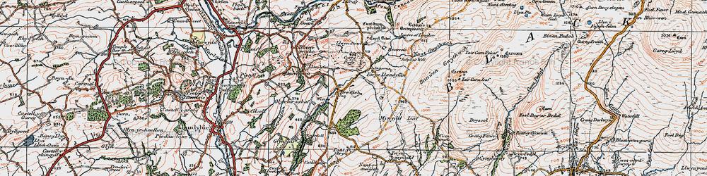 Old map of Afon Llwchwr in 1923