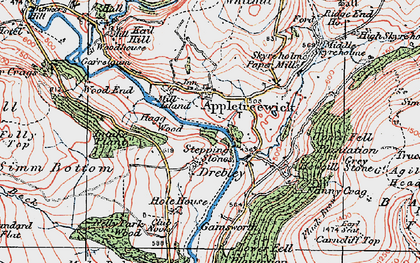 Old map of Barden Br in 1925