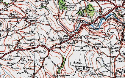 Old map of Drift in 1919