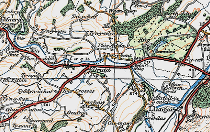 Old map of Druid in 1922