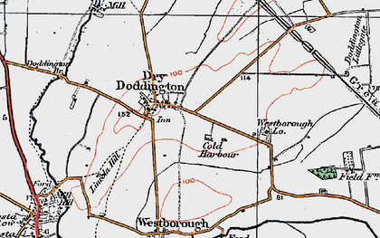 Old map of Westborough Gate Lodge in 1921
