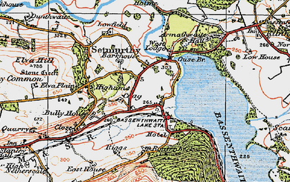 Old map of Barkhouse in 1925