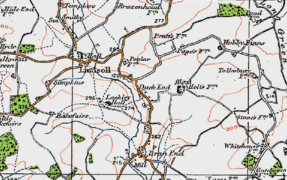 Old map of Lashley Hall in 1919