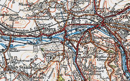 Old map of Dudbridge in 1919