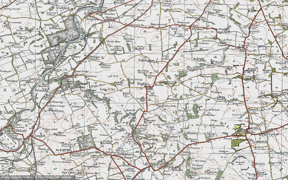 Old Map of Historic Map covering Tindal Ho in 1926