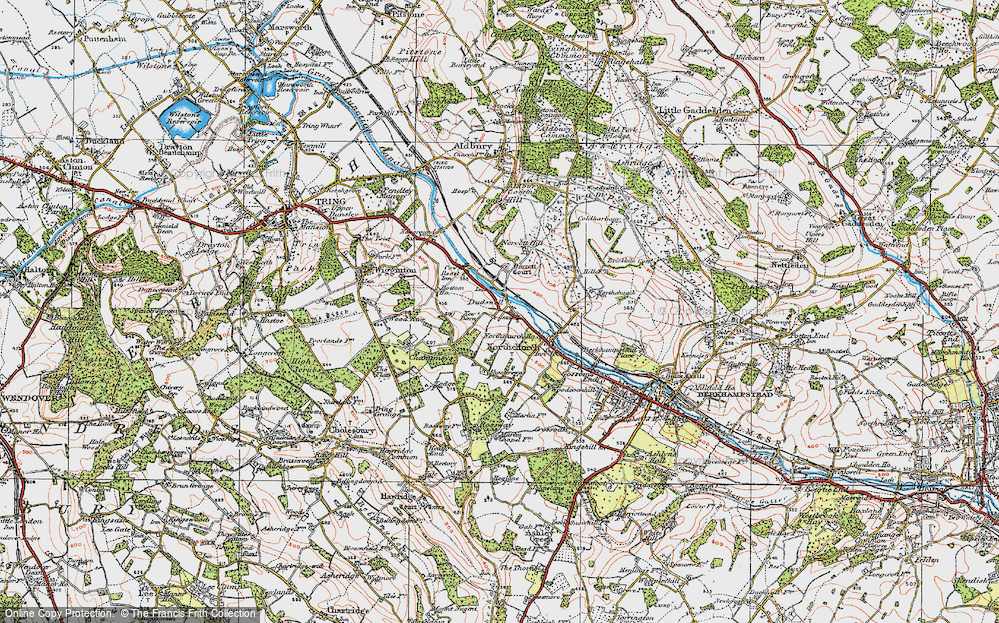 Old Map of Historic Map covering Tinker's Lodge in 1920