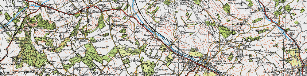 Old map of Dudswell in 1920