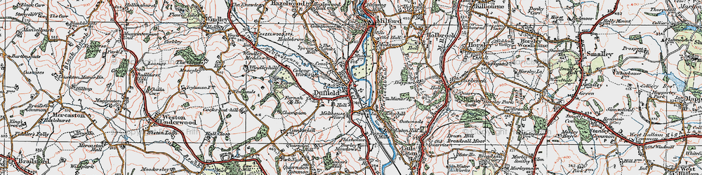 Old map of Duffield in 1921