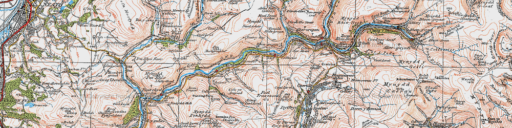Old map of Duffryn in 1923