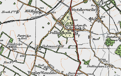 Old map of Westley Bottom in 1920
