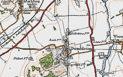Old map of Dumbleton in 1919