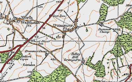 Old map of Tidley Hill in 1919