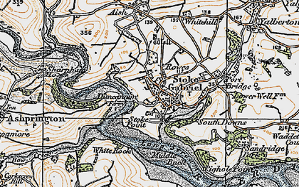 Old map of Duncannon in 1919