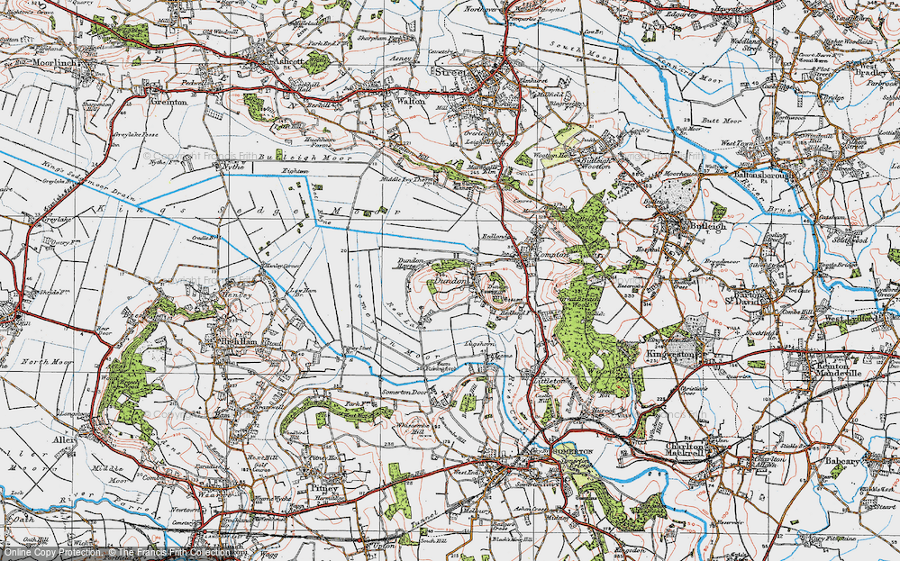 Old Map of Dundon, 1919 in 1919