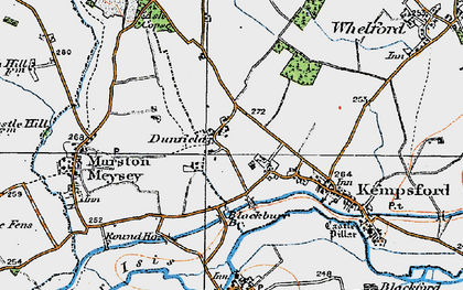 Old map of Dunfield in 1919
