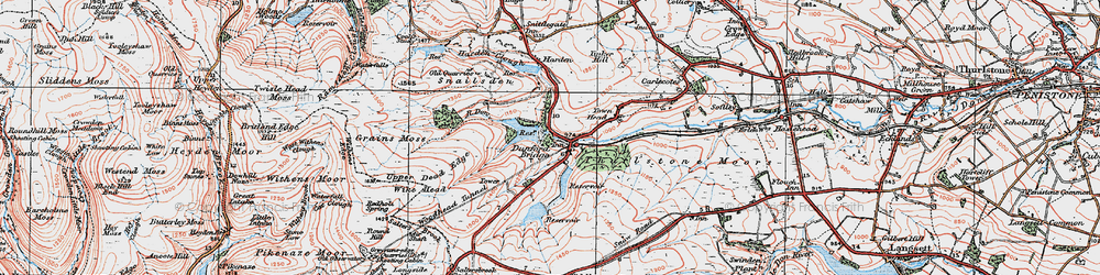 Old map of Winscar Resr in 1924