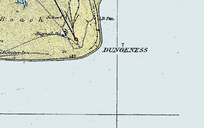 Old map of Dungeness in 1921