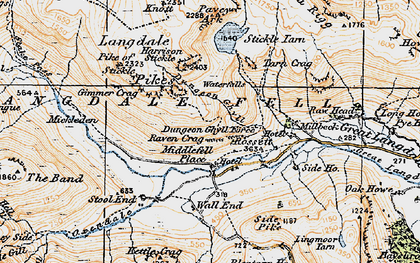 Old map of Band, The in 1925