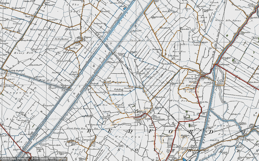 Old Map of Dunkirk, 1920 in 1920