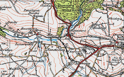 Old map of Dunmere in 1919