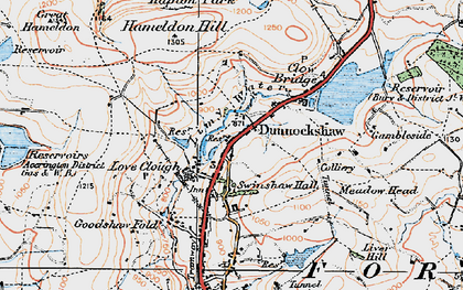 Old map of Limy Water in 1924
