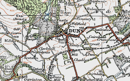 Old map of Langton Burn in 1926