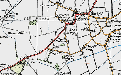 Old map of Lings Windmill in 1923