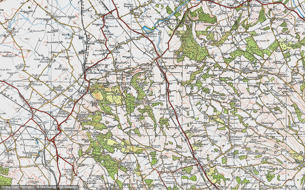 Old Map of Historic Map covering Buckinghamshire in 1919