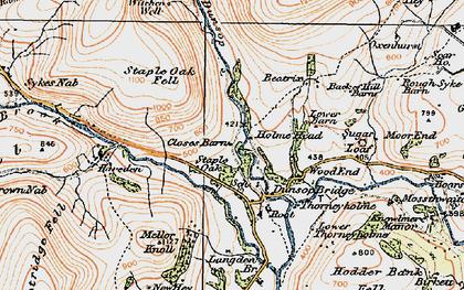 Old map of Dunsop Bridge in 1924