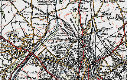 Old map of West Park in 1921