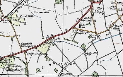 Old map of Wyndthorpe Hall in 1923