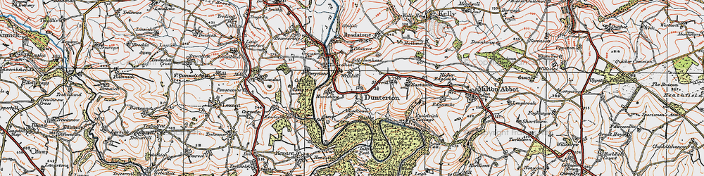 Old map of Woodtown in 1919