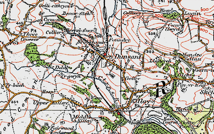 Old map of Dunvant in 1923