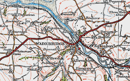 Old map of Dunveth in 1919