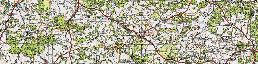 Old map of Durgates in 1920