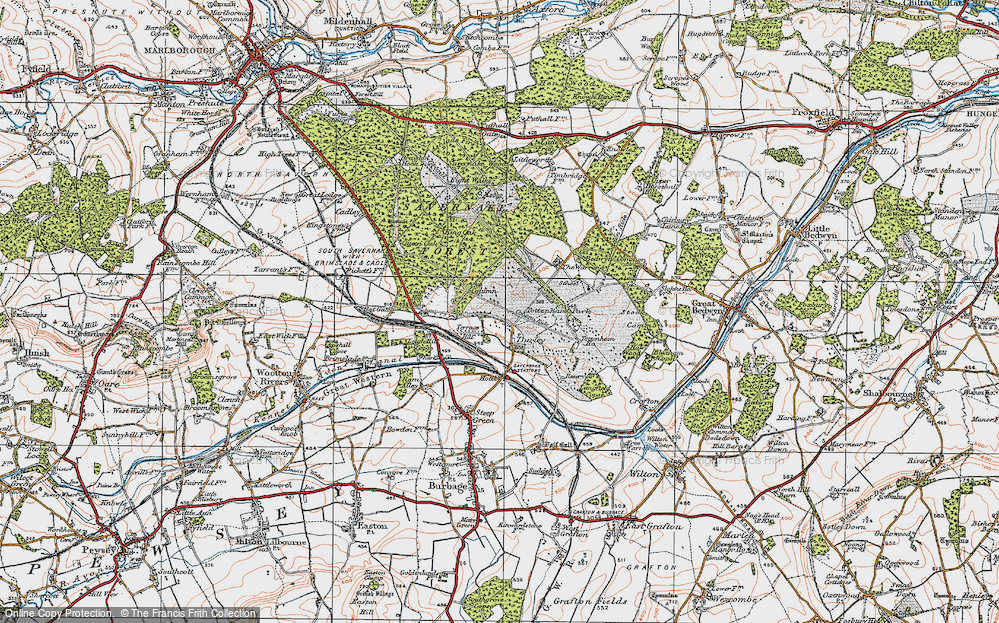 Old Map of Durley, 1919 in 1919