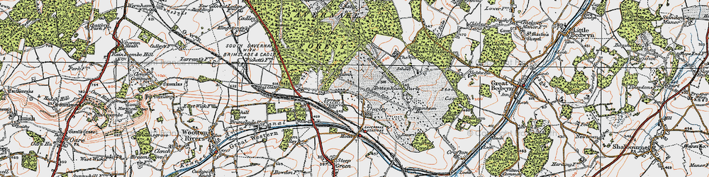 Old map of Durley in 1919