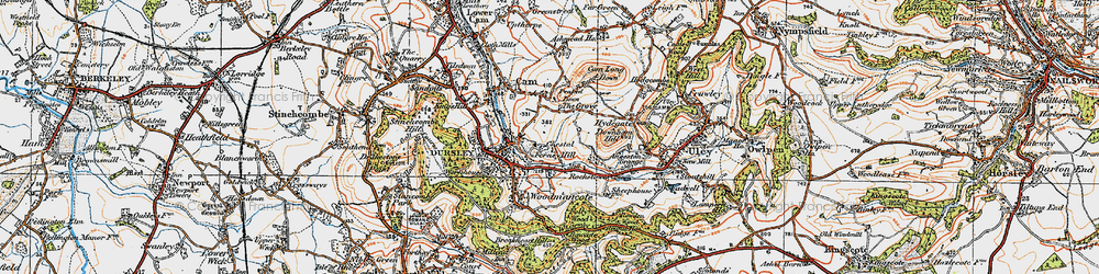 Old map of Dursley in 1919