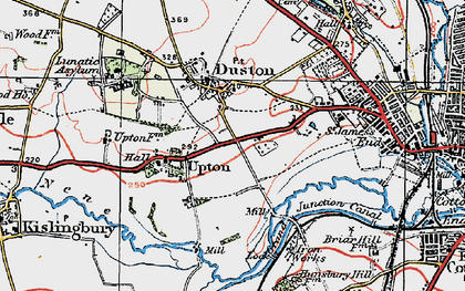 Old map of Duston in 1919