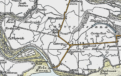 Old map of Coryton in 1921