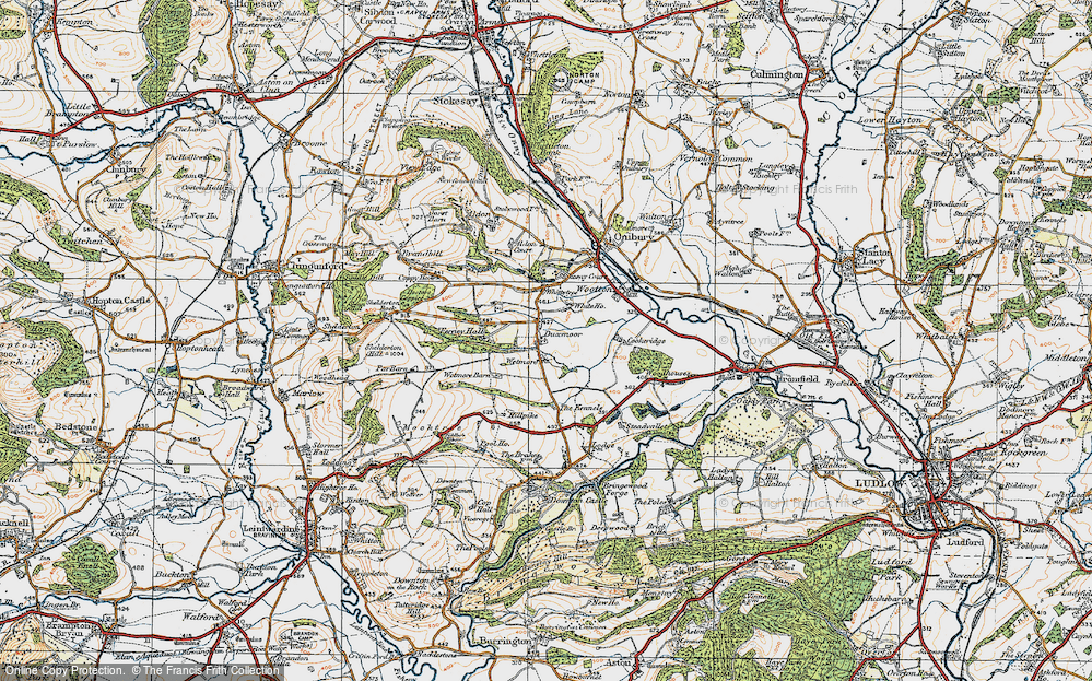 Old Map of Historic Map covering Wetmore in 1920