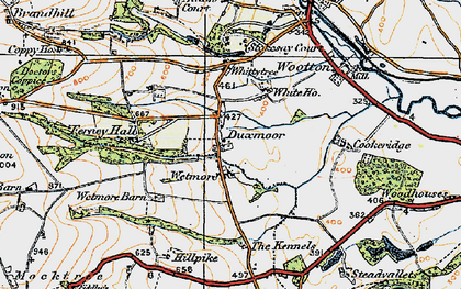 Old map of Wetmore Barn in 1920
