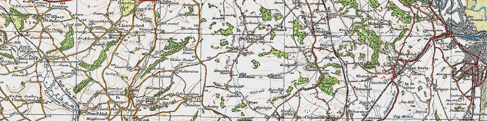Old map of Whitton Mawr in 1919
