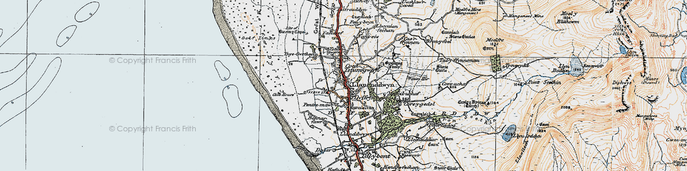 Old map of Dyffryn Ardudwy in 1922