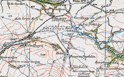 Old map of Banwen in 1923