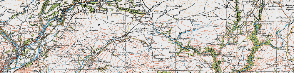 Old map of Tonyfildre in 1923
