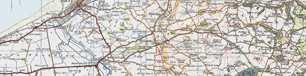Old map of Dyserth in 1922