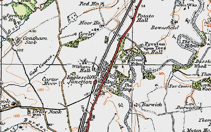 Old map of Witham Hall in 1925
