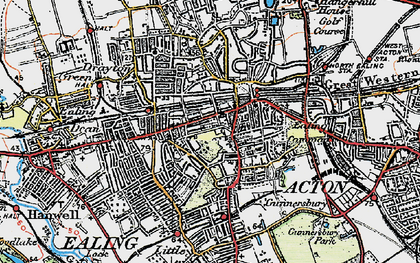 Old map of Ealing in 1920
